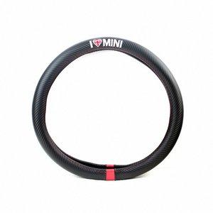 스티어링 휠 커버 자동차 스타일링 I LOVE MINI 탄소 섬유 가죽 PU를 들어 MINI COOPER R50 R52 R53 R55 R56 R57 R58 R59 R60 R61 R62 XZ9j 번호