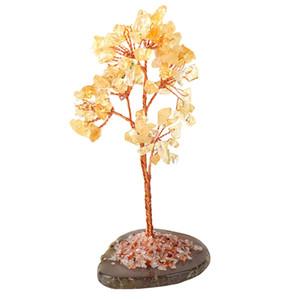 Craft Good Luck Dekorative Natürlicher Kristall Mini Fortune-Money Tree Home Office
