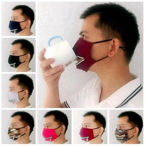 2 in 1 Face Mask With Adjustable Zipper Dustproof Cotton Washable Protective Masks 7 Styles for Choose