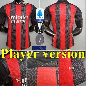New Player versão 20 21 AC Milan camisa de futebol 2020 2021 camisa de futebol IBRAHIMOVIC Bennacer Rebic Camiseta de futbol ROMAGNOLI jerseys