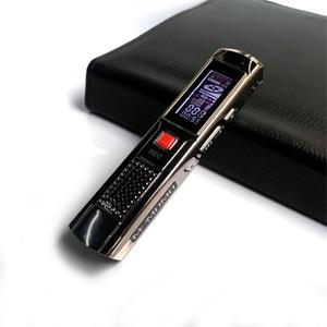 CGJXSProfesional Mini Grabadora de audio digital Grabación larga 8GB Steel Steereo grabación grabadora de voz reproductor de MP3