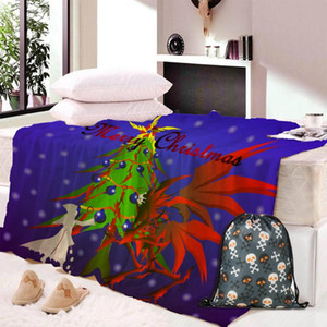Christmas Theme Pattern Hooded Blanket Soft Plush Fashion Cape Hat Throwing Sherpa Blanket Bedding Home Decor