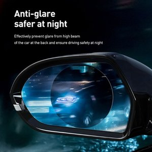 Baseus 2Pcs 0.15mm Car Rearview Mirror Protective Films Anti Fog Window Foils Waterproof Rainproof Protective Sticker