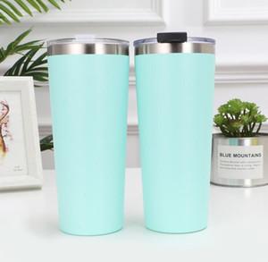 30oz Stainless Steel Tumblers Vacuum Insulated Straight Cups Taper Cup Beer Coffee Mug Wine Glasses With Lids Metal Water Bottle GGA2704