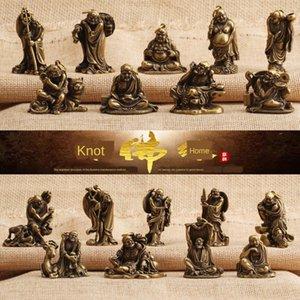 Antique dix-huit Arhats bronze ornements statue de Bouddha Dix-huit Arhats statue de bronze antique collection d'artisanat ornements en laiton massif