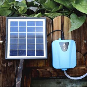 Solar Power / DC Aquarium de charge Pompes à air oxygène aquarium Pompe à eau oxygénateur pour les aquariums Aérateur hydroponique