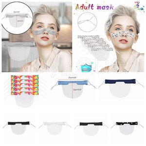 Sordomuto trasparente della maschera di protezione riutilizzabile lavabile maschere antipolvere antiappannamento Earloop Cancella Lip PVC maschera maschere Designer 9styles RRA3414