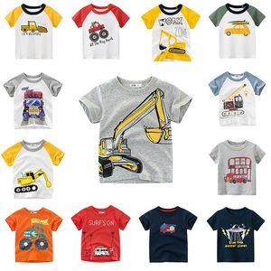 2020 Camiseta de los niños para los muchachos camiseta de dibujos animados patrón de coche para niños Tops Camisetas de las muchachas del muchacho Camiseta de los niños Kids Fashion Tees