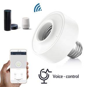 Support de lampe de lumière SMART WIFI pour E26 E27 Ampoule à LED Google Accueil Echo Alexa Commande vocale Application de la minuterie