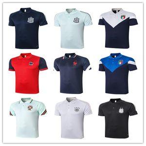 20 camisetas 21 RONALDO Mbappé MESSI futebol Jersey Polo 2020 2021 França Espanha Itália Argentina equipa nacional de futebol camisa Polo