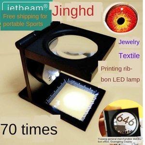 Schmuck Lupe Taube LED-Lampe Metall Auge mit HD Photo Textildruck 70fach Schmuck Taube Display Spiegel kvyio