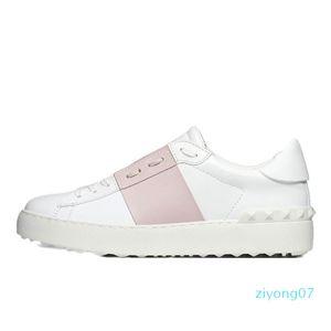 Ll2020 Mode Hommes Femmes Chaussures Casual Blanc femmes noires Chaussures confortables en cuir sport ouvert baskets basses Taille 35-46 Z07