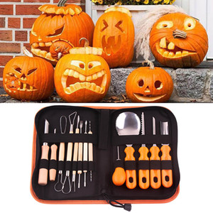 Halloween Pumpkin Carving Set com Inox Toolkit alta qualidade durável facilmente Carving Kit Ferramentas para Pumpkin Jack o partido lanterna