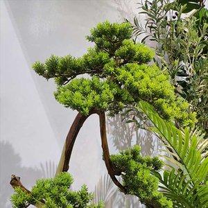 42cm artificielle Précipice plantes Cypress Pine Faux Feuillage Bush Accueil Hôtel Jardin Décoration Fleur Bonsai Jardin Décor