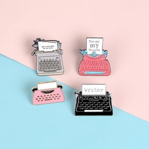 """Retro style Typewriter Lapel Enamel Pins """"You're my favorite"""" Brooches Badges Classic Love Pins Jewelry Gifts for Couple Friends"""