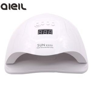 SUN X5 Plus 80W UV LED Gel Nail лампа быстрой сушки ногтей Сушилка машина машина лампа для отверждения УФ-гель польский Art Tools