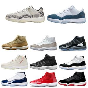Concord criado 11 11s Hombres Mujeres Jumpman Baloncesto tapa mermelada de zapatos para hombre del espacio y la leyenda vestido azul bajo heredera Pure Platinum zapatillas de deporte