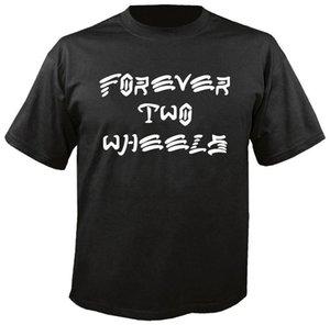 Yaz Erkekler Kısa Kollu T Shirt Sonsuza İki Tekerlekler F.T.W. Tişört Biker Chopper Kustom Kulture Surfer Parodyfunny Tee Gömlek