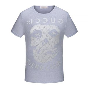 wholesale t shirt Spring's newest floral skull T-shirt with round neck. Physical strength. High quality cotton blend, size Men's t shirt 4XL