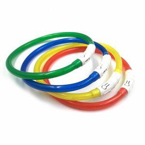 Charging Adjustable Pet Dog Collar LED Rechargeable Night Practical Flashing Luminous Dog Collars Plastic Solid Neck Collar Dogs NzQJ#