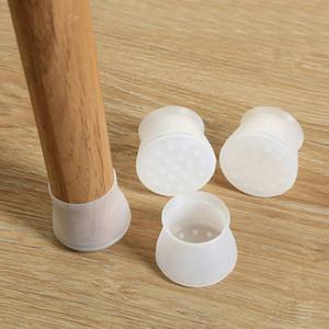 Piedi 4Pcs / Set Chair Gamba silicone del rilievo della protezione Mobili tabella della copertura della protezione del pavimento antiscivolo tavolo sedia di protezione del piede