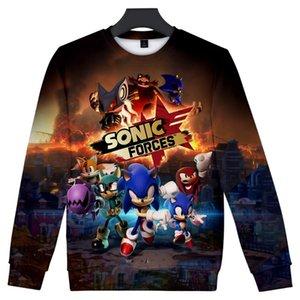 Sonic The Hedgehog Printed 3D Женщины / Мужчины O-образным вырезом Кофты Мода длинным рукавом Толстовка Горячие продажи Модные Уличная одежда