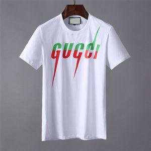 Men Top Fashion T-shirt Lettre brodé T-shirt Homme manches courtes femmes T-shirt des hommes de