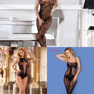 pijamas atractivos mono atractivo de malla ropa interior medias honda traje uniforme tentación Sling ropa interior de seda medias