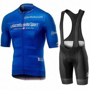 Tour de Italia Italia 2020 Men Cycling Summer Summer Sleeve Set Jersey Bib Bib Shorts Traspirante MTB Racing Maillot 8ymi #