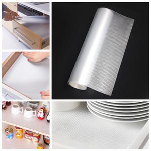 Feuchtigkeitsfest Startseite Kleiderschrank Mat 45 * 120cm verdicken Transparent Schublade Pad Papier Küchen Isolierung Wasserdicht Oilproofed Tischmatte TQQ BH0555