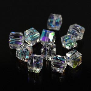 All'ingrosso-cristallo Bicone Beads 4mm (115 / LOT) sfaccettato borda il cristallo Coralli cechi allentati per i monili DIY orecchini collane bracciali 17Sh #
