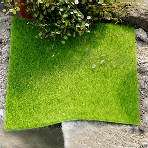 New Artificial Lawn Miniature Garden Ornament Fake Grass Figurine Craft Plant Pot Fairy Decor 15x15cm 30x30cm