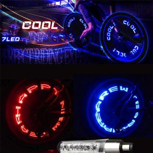 Bike Light Led Mountain Bicycle Light Tire Gas Nozzle Valve Core Glow Stick Cycling Lamp Tyre Caps Wheel Spokes Flash