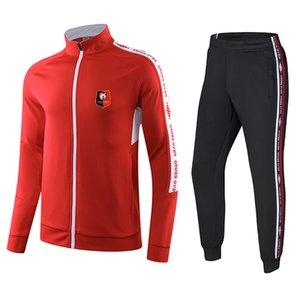 Stade Rennais Football Club Футбол Спортивный спортивный спортивный спортивный спортивный костюм для гольфа на улице Уголов на наборы здоровья тканью круглые шеи удобная одежда