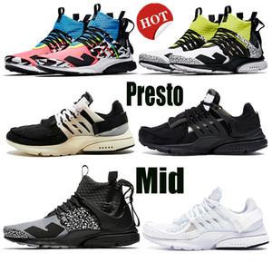 Haute Qualité 2020 x prestos blanc QS mi x acronyme sport chaussures de course bon marché extérieur dynamique Yellowr Femmes Hommes Runner Entraîneur Sneakers