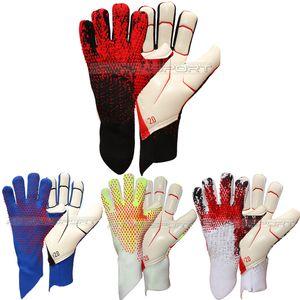 Взрослый вратарь перчатки футбольные перчатки футбол без fingersave Adulto luvas де goleiro Luvas де Futebol Сем proteção де Dedo полный латекса