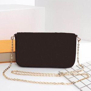 بالجملة، أحدث حقائب LUXURY أزياء المرأة مصمم حقائب الكتف عالية الجودة حقيبة العلامة التجارية الحجم 21/11/2 سم نموذج 61276
