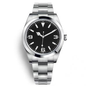 39 мм Автоматические механические мужские часы часы серебряный чехол черный циферблат синий желтый 369 из нержавеющей стали из нержавеющей стали минутные маркеры около 214270