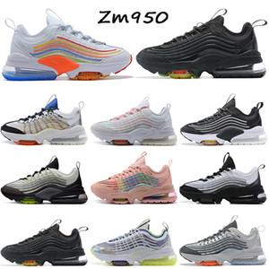 airmax air max zm950 950 Calidad superior Zapatillas deporte Cojín Zapatillas de deporte Hombres Mujeres Zapatos para correr Blanco Colorido Triple Negro Lobo Gris Athletic
