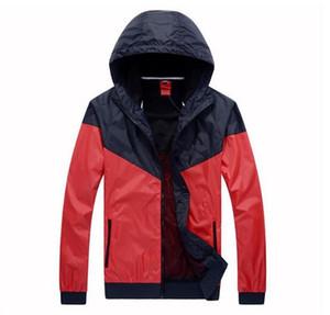 무료 배송 2019 패션 새로운 남성 여성 자켓 봄 가을 캐주얼 스포츠 의류 윈드 브레이커 후드 지퍼까지 코트 검은 코트를 입고 가을