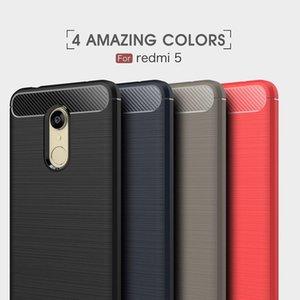 Cgjxs 10pcs Casos Telemóvel por fibra de carbono Xiaomi Redmi5 Tpu Heavy Duty à prova de choque Capa Para Redmi5 Além disso Tampa frete grátis