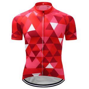 2020 클래식 자전거 저지 산악 자전거 의류 레드 빠른 건조 MTB 유니폼 자전거 의류 Breathale 남성 자전거 의류