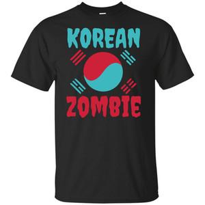 Campeonato bandeira da Coreia do combate camiseta O Korean Zombie Preto T-shirt Tamanho ... Tamanho Grande Camiseta