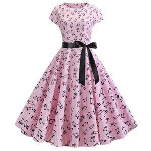 Women Floral Print Summer Dress 50s 60s Vintage Dress Female Short Sleeve Retro Robe Rockabilly Party Dresses Plus Size Vestidos