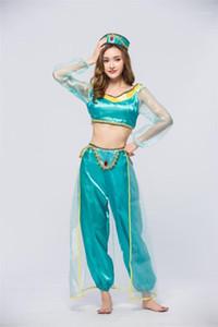 Damenmode Mode Bühnenkostüm Halloween Prinzessin Jasmin Bühne Wear Aladdin Cosplay Lose Sexy