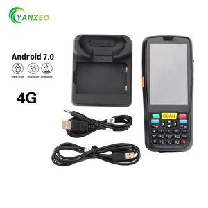 4G 이동 전화 PDA 바코드 핸드 헬드 안드로이드 7.0 터미널 2D 바코드 스캐너 와이파이 블루투스 GPS PDA RFID UHF 바코드 리더