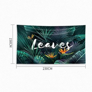 Simple fashion home decoration 150 * 230cm polyester tapestry 30 color home bedroom living room background printing landscape plant starligh
