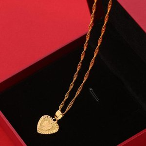 Fashion romantic heart pendant necklace women statement jewelry choker accessories gold color wave chain necklaces gifts