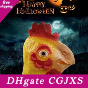 Tiermaske Partei Latex Partei Maske Gummi Halloween-Voll Chicken Head Hahn Prop Gesicht Karneval Huhn Qgtro