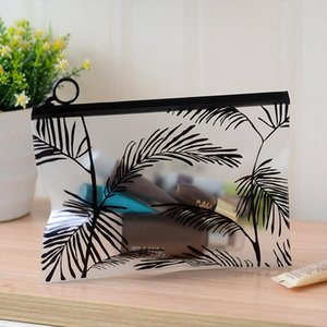 Makeup Ziplock Storage Bag Pencil Case PVC Waterproof Toothbrush Toothpaste Toiletry Wash Pouch Cosmetic Bag Travel Organizer